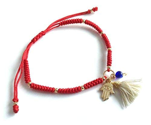 Red String Bracelet Protection Kabbalah Jewelry One Size Adjustable ()
