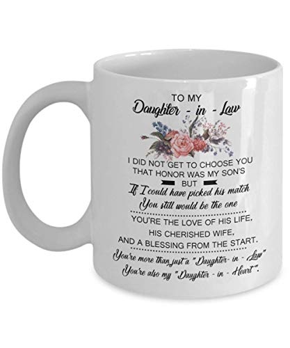 Being Drinkware Mug - For Daughter-in-law, Family Gift Mug, Thank You For Being My Daughter-in-law, Mother's Gift For Daughter-in-law, Thank You White Cup