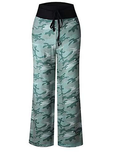Pantaloni Yfltz Dot Polka Larghi camouflage Da Green beach Donna Fall fwHUZnaqw