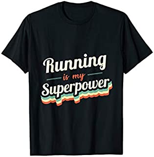 [Featured] Running is my Superpower Funny Gift Running Vintage Design in ALL styles | Size S - 5XL