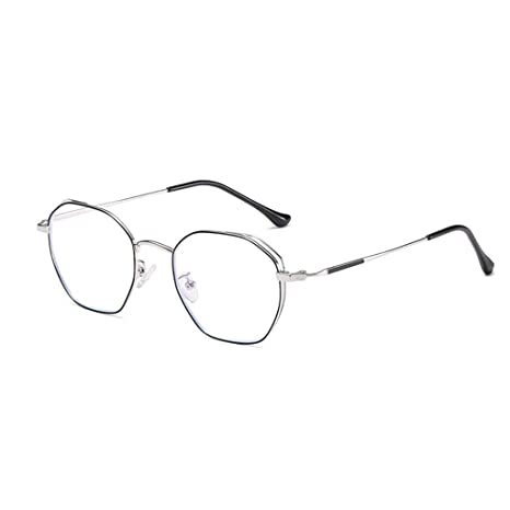 da9aa3cfc1 Image Unavailable. Image not available for. Color  HHL Non-Prescription  Anti Blue Light Glasses,Polygon Metal Frame Protect Eyes,Reading