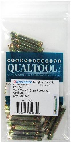 qualtool qryptonite k62-t40–25Tamaño T-40Poder de estrella Bit, 25-Pack