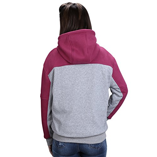 OUTCOOL Women's Cordless Heated Hoodie Kit Color Matching Design Full-Zip Hooded Fleece Sweatshirt(M) by OUTCOOL (Image #2)