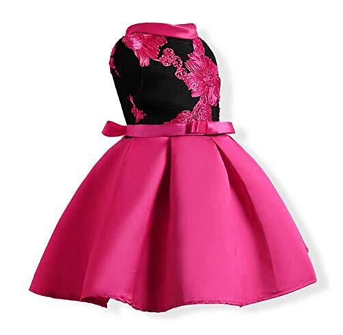 Tueenhuge Little Girls Sleeveless Flower Ruffles Lace Party Wedding Bridesmaid Dress by Tueenhuge (Image #2)