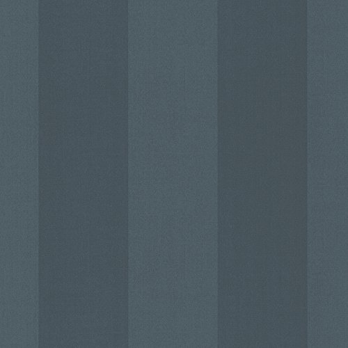 Awning Stripe Wallpaper - Chesapeake SRC194528 Harpswell Herringbone Awning Stripe Wallpaper, Navy