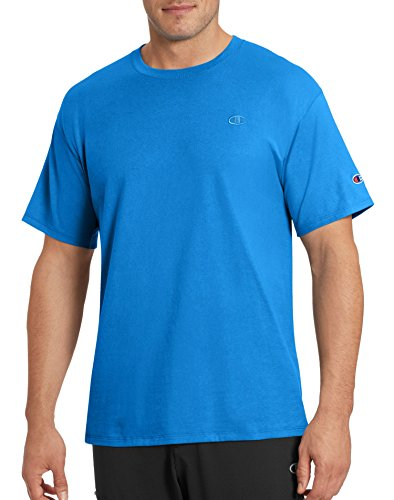 Champion Men's Classic Jersey T-Shirt, Hotline Blue, (Champion Line)