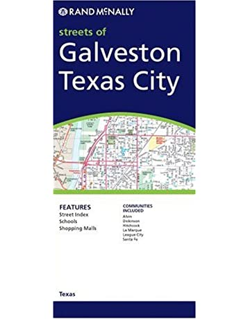 Rand McNally Galveston/Texas City Map: Including Alvin/Dickinson/Hitchcock/La
