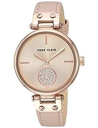 Reloj Anne Klein Swarovski Crystal Accented para Mujer 34mm, pulsera de Piel