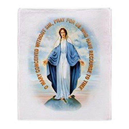 "CafePress - Miraculous Medal Throw Blanket - Soft Fleece Throw Blanket, 50""x60"" Stadium Blanket"