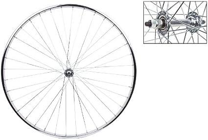 "27/"" x 1 1//4/"" Alloy Front /& Rear w Freewheel Wheelset 14G Black"