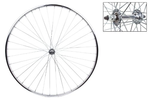 Wheel Front 27 x 1 1/4 Silver, Bolt On, 5/16 Axle Hub, 14g UCP Spokes, 36H