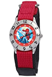 Marvel Kid's MA0103-D2762-RedVelcro Marvel Super Hero Squad Classic Time Teacher Watch