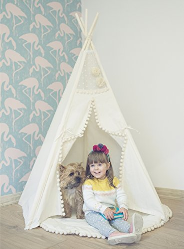 Original Design Kids Teepee with Play Mat for Indoor Using Handmade by MINICAMP