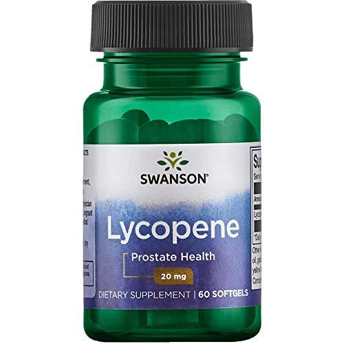 (Swanson Lycopene Supplement, Prostate Health Supplement 20 mg, 60 Softgels)