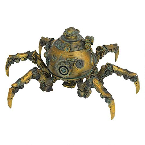 Design Toscano Octopod Mechanical Steampunk Sculpture, Antique Gold