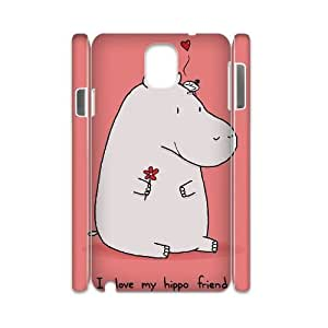 Clzpg 3D New Fashion Samsung galaxy Note3 N9000 Case - Hippo DIY 3D cell phone case