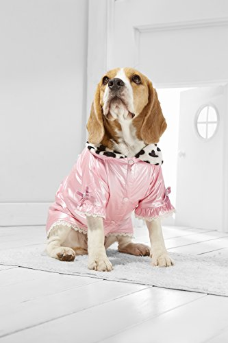 Medium Dog Princess Coat For Beagle Poodle Boston Terrier Australian Shepherd (Medium Plus Size, pink, white, black) - Frenchie Costume Plus Size