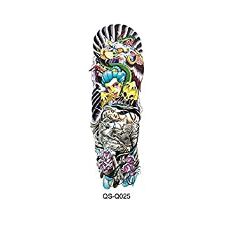 6e9185f4d Temporary Tattoo Sleeve Designs Full Arm Waterproof Tattoos For Cool Men  Women Transferable Tattoos Stickers On