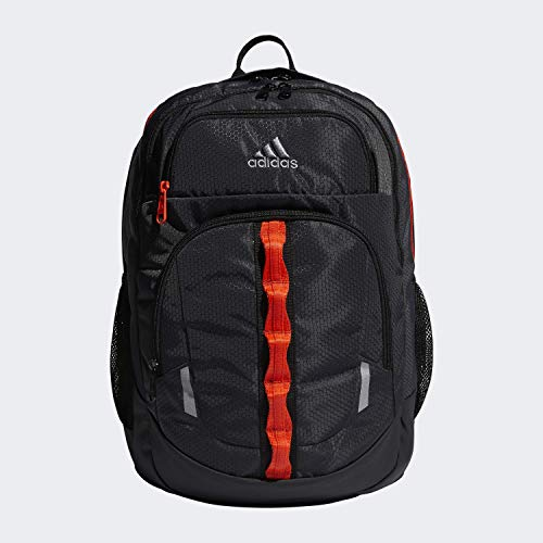 adidas Unisex Prime Backpack, Carbon/Grey/Active Orange/Black, ONE SIZE (Orange Backpack)