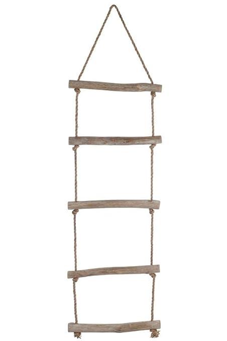 Escalera Decorativa de Techo Madera y Cuerda - Altura 157 cm ...