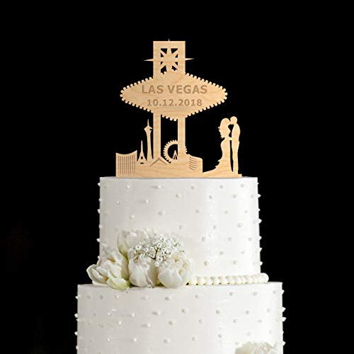 Las vegaslas vegas wedding cake topper las vegas cake topper las vegas wedding las vegas sign cake topper wedding wedding cake topper