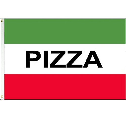 Pizza 3x5 Polyester Flag  by Vista Flags