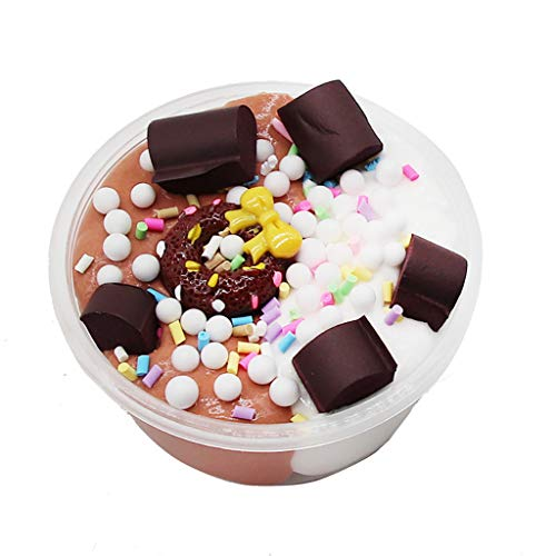 S.H.EEE Fruits Chocolate Cotton Mud Puff Slime Putty Scented Stress Kids Clay (F)