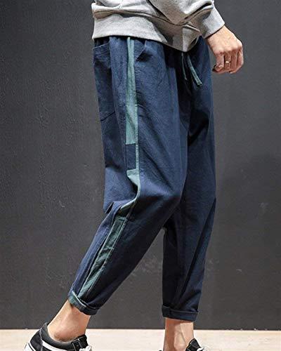 Unie Lâche Pantalons Hommes Long Sarouels Léger Couleur Pour Targogo D'été Pantalon Respirant Extensible Confortable Marineblau 0Bdvqdwx
