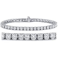 2-20 Carat Classic Tennis Bracelet 14K White Gold Premium Collection