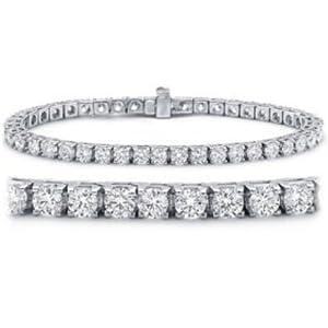 4 Carat IGI Certified Classic Tennis Bracelet 14K White Gold Value Collection