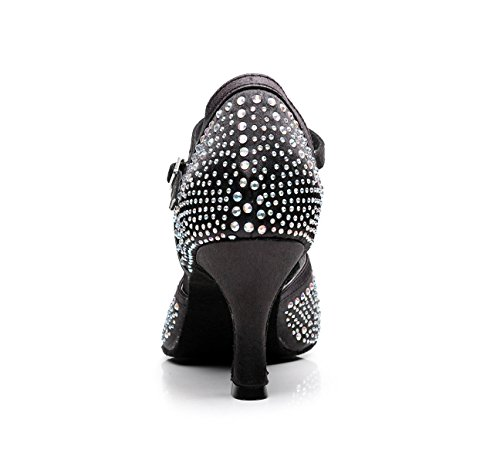 UK2 Strap Moderne De Jazz heeled7 Our33 Danse Talons Chacha Danse Chaussures Black T Salsa Chaussures Latin Femmes Samba EU32 Hauts Sandales Danse Tango Pour De 5cm 5 JSHOE Sw05naxn