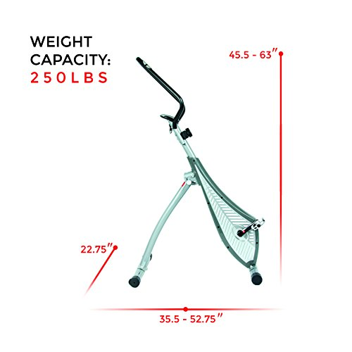 Sunny Health & Fitness SF-B0419 Incline Plank Standing Exercise Bike by Sunny Health & Fitness (Image #13)