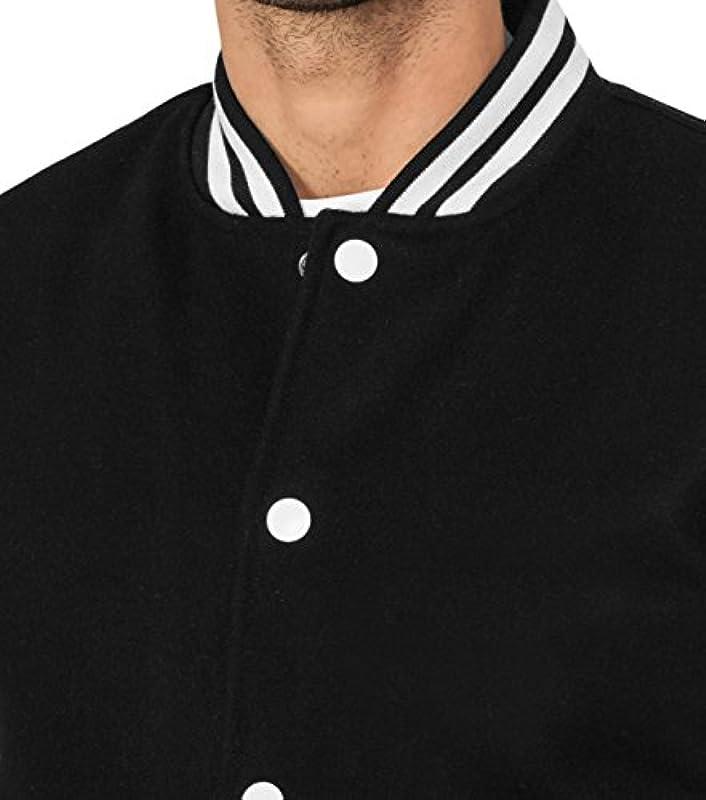 Urban Classics Havard Oldschool College kurtka - czarna biała TB 201: Odzież
