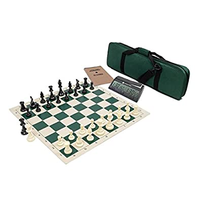 Wholesale Chess Triple Weighted Complete Tournament Chess Set with Scorebook & Chess Clock