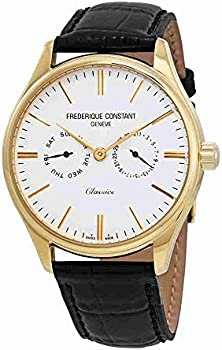 Frederique Constant White Dial Leather Strap Men's Watch