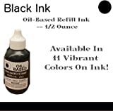 OIL-BASED REFILL INK // 1/2 OUNCES // COLOR: Black - Available In 11 Vibrant Colors Of Ink!