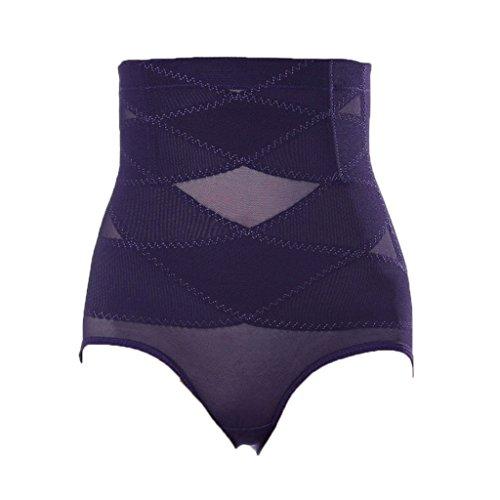 MagiDeal Braguitas Moldeadoras de Alta Cintura Bragas Ropa Interior de Vientre De Control Prendas para Mujeres - Púrpura, XL