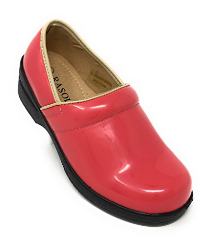 Patent Clogs Back Rasolli Coral Women's Professional Closed qZZwAOp