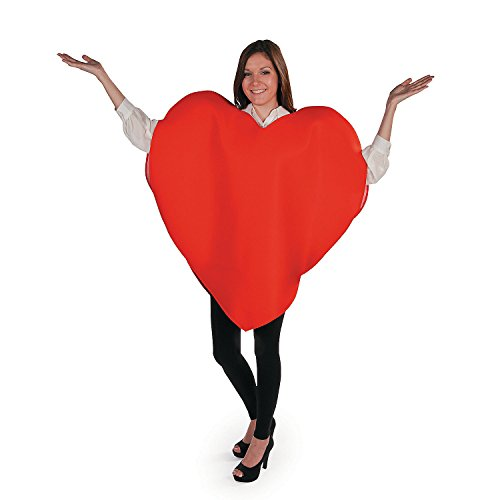 Fun Express - Adult Heart Costume for Valentine's Day - Apparel Accessories - Costumes - Adult - Unisex Costumes - Valentine's Day - 1 Piece -