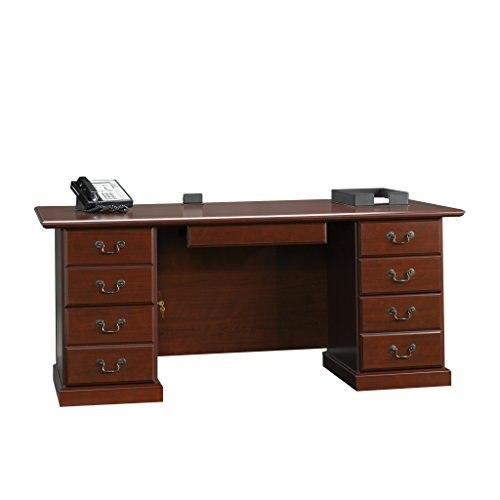 Sauder 109843 Heritage Hill Executive Desk, Classic Cherry Finish ()