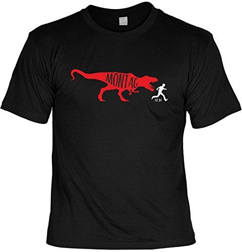 T-Shirt Spruchshirt als Geschenk - Montag - witziges Motivshirt für den gestressten Menschen mit Humor
