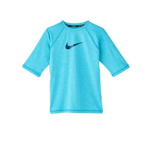 fbec847a Amazon.com: Nike Swim Boys' Heather Camo Swoosh Short Sleeve Rash ...