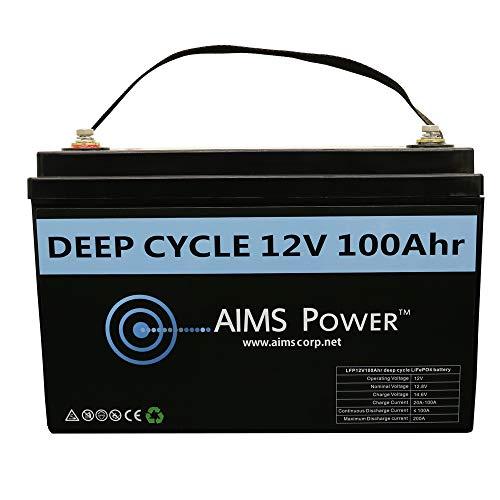 AIMS Power LFP12V100A 100 AMP 12V Lithium Battery 100Ah