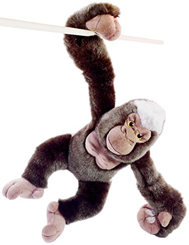 - VIAHART Geraldo The Gorilla | 16 Inch (with Hanging Arms Outstretched) Stuffed Animal Plush Monkey | by Tiger Tale Toys