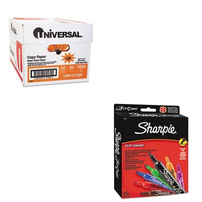 KITSAN22478UNV21200 - Value Kit - Sharpie Flip Chart Markers (SAN22478) and Universal Copy Paper (UNV21200)