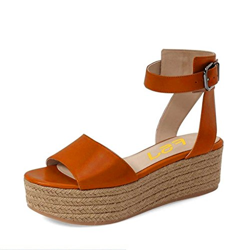 FSJ Women Casual Espadrilles Wedges Shoes Open Toe Slingback Sandals With Platform Size 13 Sienna Womens Sienna Strap Sandal