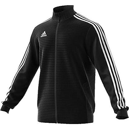 adidas Herren TIRO19 TR JKT Sport Jacket, Black/Black/White, M 7