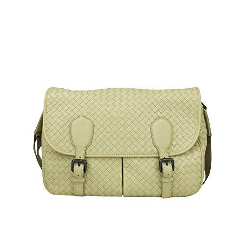 Bottega Veneta Intrecciato Beige Leather Woven Shoulder Bag 355784 7361