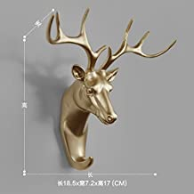 Faraway Resin Hanger Animal Head Modeling Creative Deer Head Animal Coat Hooks Decorative Wall Crafts (Gold)