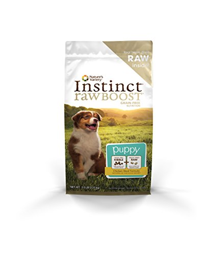 Instinct Raw Boost Puppy Grain Free Chicken Meal Formula Natural Dry Dog Food by Nature's Variety, 5 lb. Bag